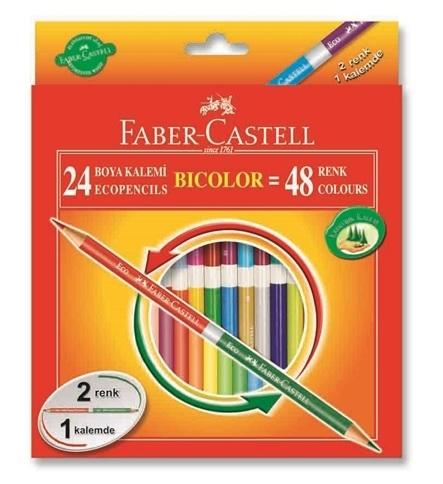 Faber Castell Bicolor Çift Uçlu Kuru Boya Kalemi 48 Renk