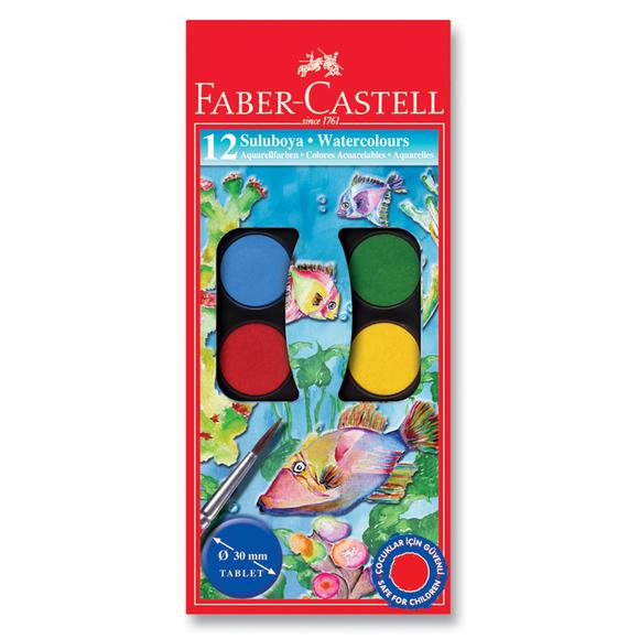 Faber Castell Büyük Boy Suluboya 12 Renk