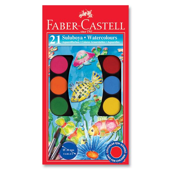 Faber Castell Büyük Boy Suluboya 21 Renk