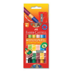 Faber Castell Çift Taraflı Mum Boya 12 Renk 141412 - Thumbnail