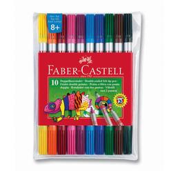 Faber Castell Çift Uçlu Keçeli Kalem 10 Renk - Thumbnail