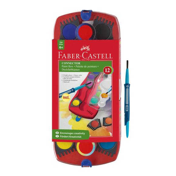 Faber Castell Değiştirilebilir Tablet Suluboya 12 Renk