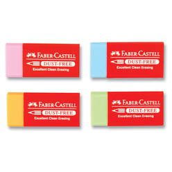 Faber Castell Dust Free Renkli Silgi 187125 - Thumbnail