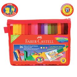 Faber Castell Eğlenceli Çantalı Keçeli Kalem 16 Renk - Thumbnail