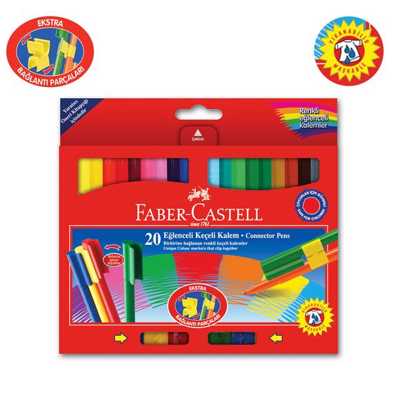 Faber Castell Eğlenceli Keçeli Kalem 20 Renk