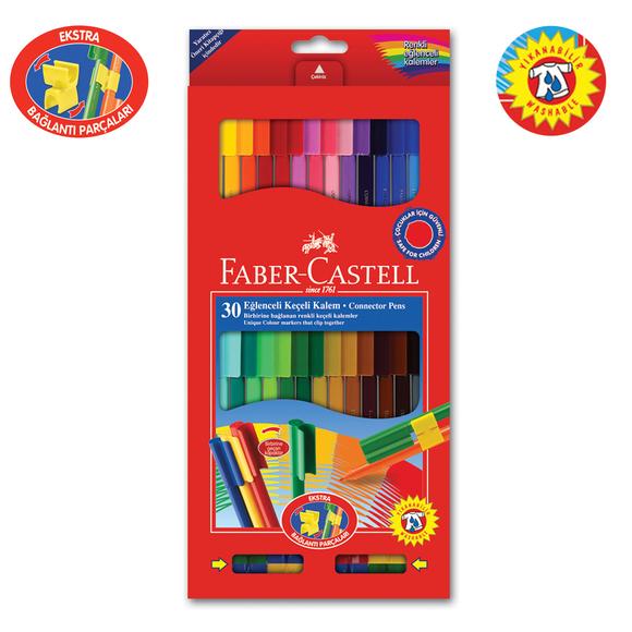 Faber Castell Eğlenceli Keçeli Kalem 30 Renk