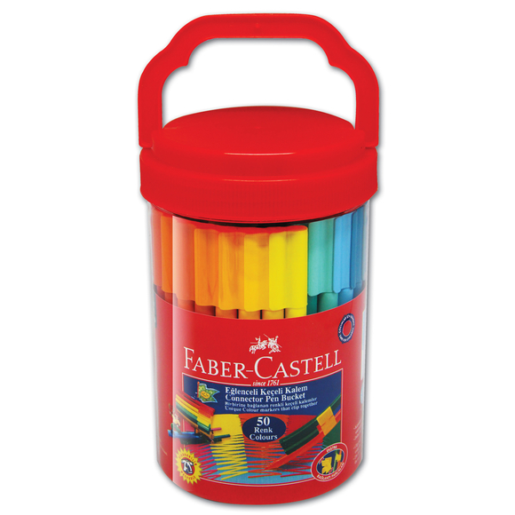 Faber Castell Eğlenceli Keçeli Kalem 50 Renk