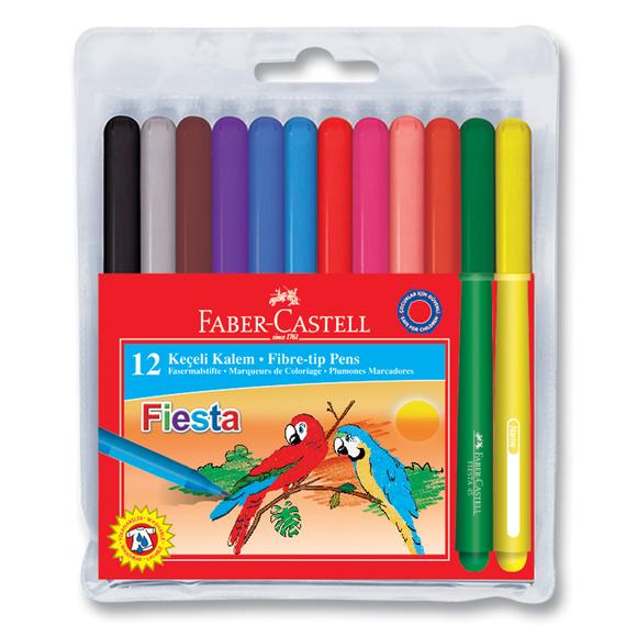 Faber Castell Fiesta Keçeli Kalem 12 Renk 312450