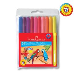 Faber Castell Fiesta Keçeli Kalem 20 Renk 330450 - Thumbnail