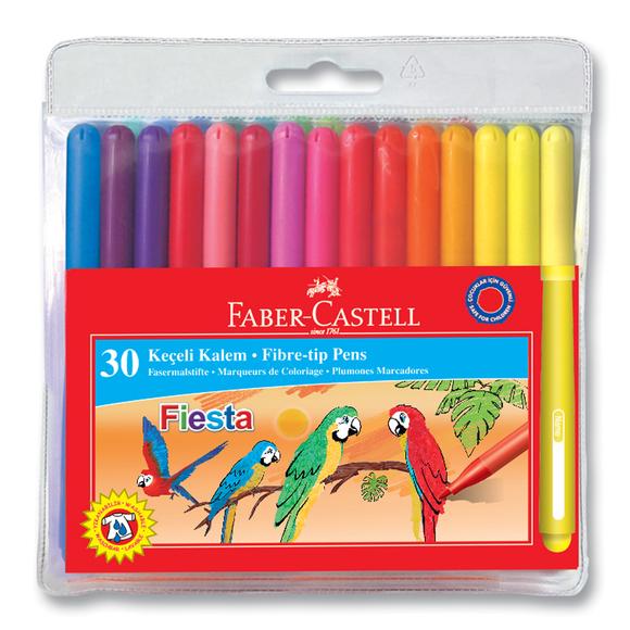 Faber Castell Fiesta Keçeli Kalem 30 Renk 350450