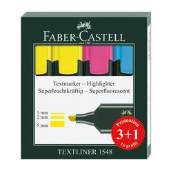 Faber Castell Fosforlu Kalem 3+1 1548 - Thumbnail