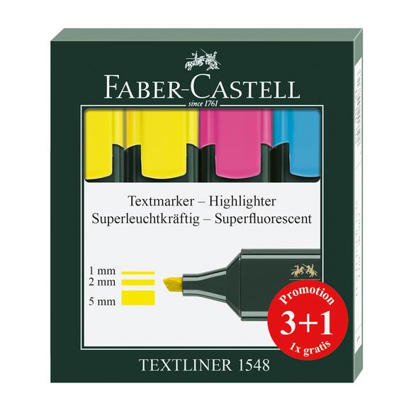 Faber Castell Fosforlu Kalem 3+1 1548