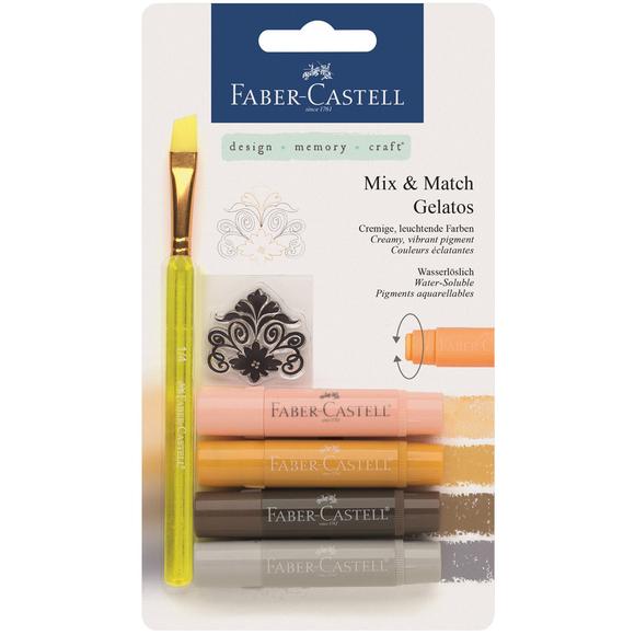 Faber Castell Gelato 4 Renk Mum Boya Doğal Tonlar 121805