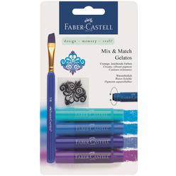 Faber Castell Gelato 4 Renk Mum Boya Mavi Tonlar 121803 - Thumbnail