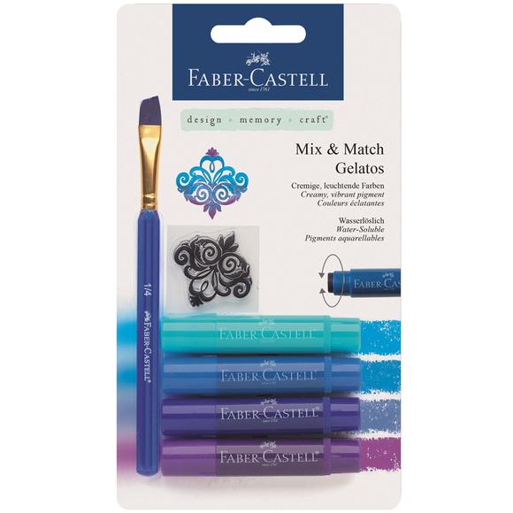 Faber Castell Gelato 4 Renk Mum Boya Mavi Tonlar 121803