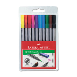 Faber Castell Grip Finepen Keçeli Kalem 0.4 mm 10 Renk 151610 - Thumbnail