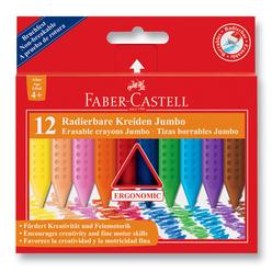 Faber Castell Grip Jumbo Silinebilir Mum Boya 12 Renk 122540 - Thumbnail