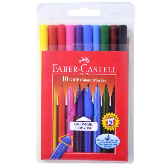 Faber Castell Grip Keçeli Kalem 10 Renk 155310