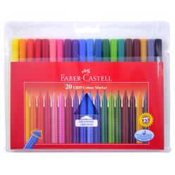 Faber Castell Grip Keçeli Kalem 20 Renk Poşet - Thumbnail