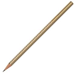 Faber Castell Grip Sparkle Üçgen Kurşun Kalem Altın 118337 - Thumbnail
