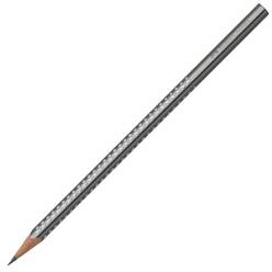 Faber Castell Grip Sparkle Üçgen Kurşun Kalem Gümüş 118338 - Thumbnail