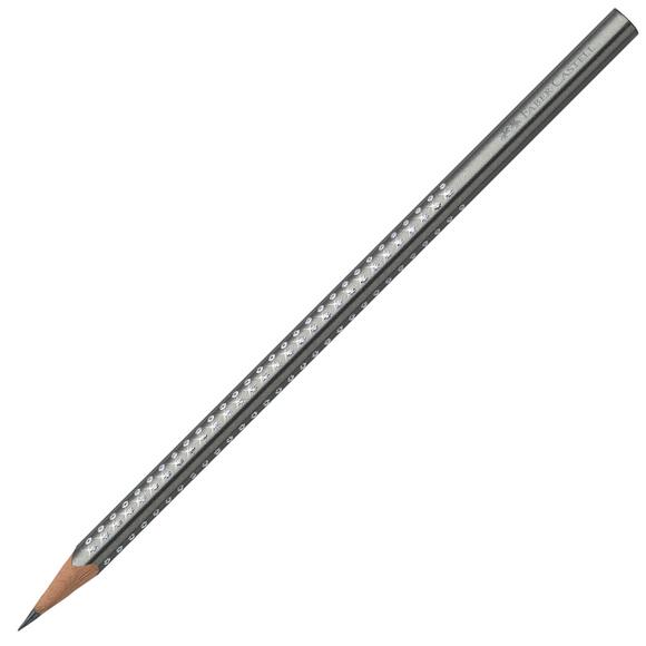 Faber Castell Grip Sparkle Üçgen Kurşun Kalem Gümüş 118338