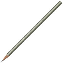 Faber Castell Grip Sparkle Üçgen Kurşun Kalem Metalik Kırmızı 118345 - Thumbnail