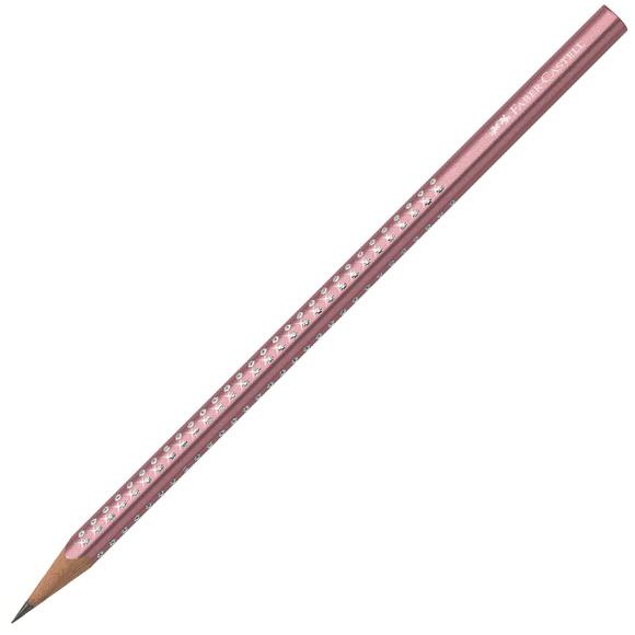 Faber Castell Grip Sparkle Üçgen Kurşun Kalem Metalik Kırmızı 118345