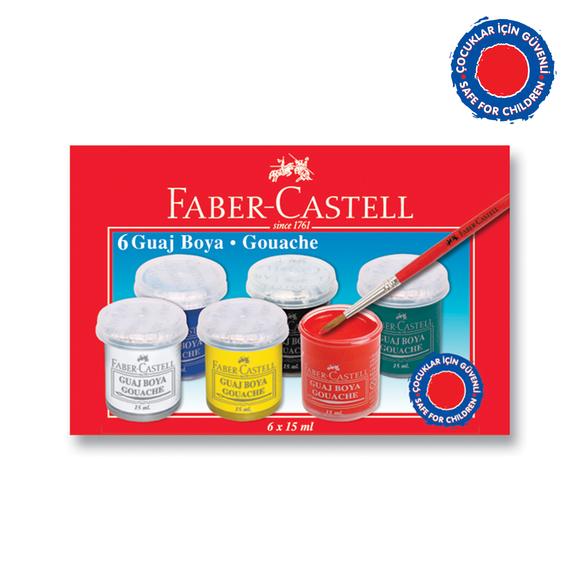 Faber Castell Guaj Boya 6'lı