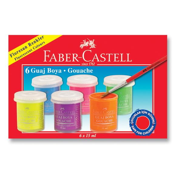 Faber Castell Guaj Boya Neon 6 Renk