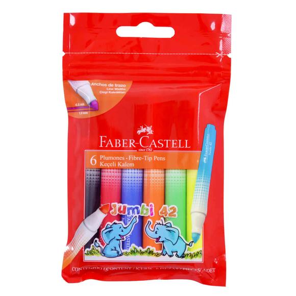 Faber Castell Jumbi 42 Keçeli Kalem 6 Renk 30642