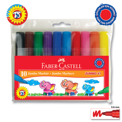 Faber Castell Jumbo 47 Markör 10 Renk - Thumbnail