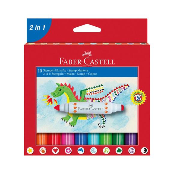 Faber Castell Jumbo Keçeli Kalem 10'lu 1551702IN1