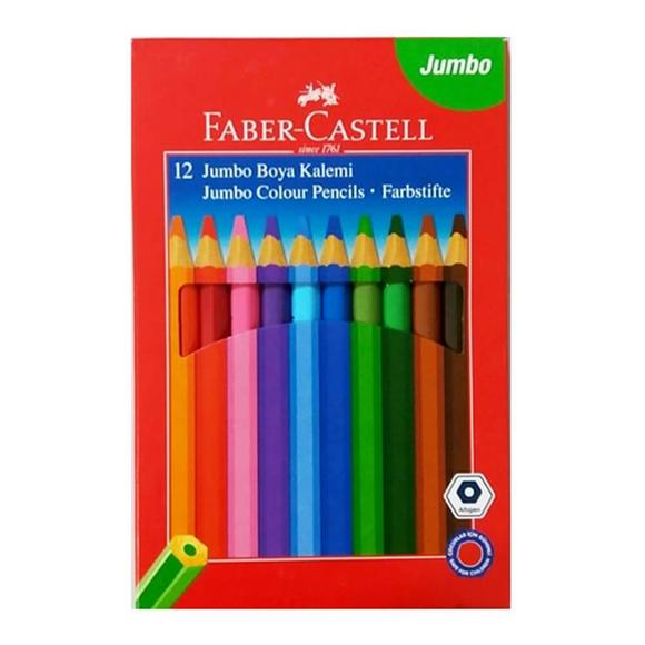 Faber Castell Jumbo Kuru Boya Kalemi 12 Renk 951000