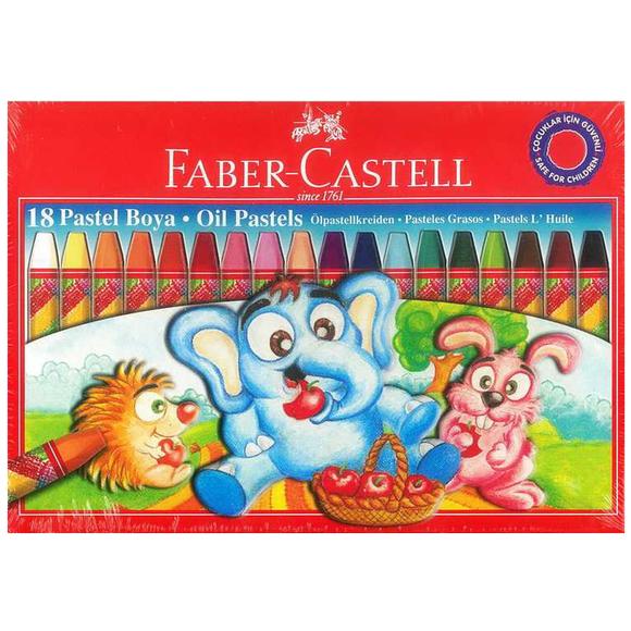 Faber Castell Karton Kutu Pastel Boya 18 Renk 125318