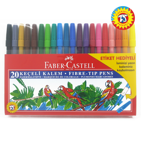 Faber Castell Keçeli Kalem 20'li Poşet