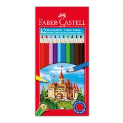 Faber Castell Kuru Boya Kalemi 12 Renk - Thumbnail