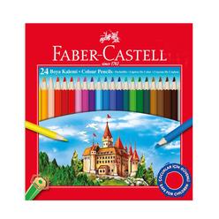 Faber Castell Kuru Boya Kalemi Karton Kutu 24 Renk - Thumbnail