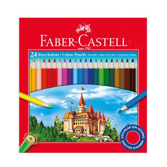 Faber Castell Kuru Boya Kalemi Karton Kutu 24 Renk