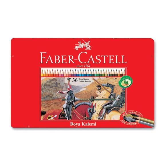 Faber Castell Kuru Boya Kalemi Metal Kutu 36 Renk