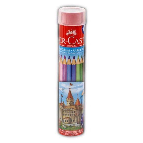 Faber Castell Kuru Boya Kalemi Metal Tüpte 12 Renk