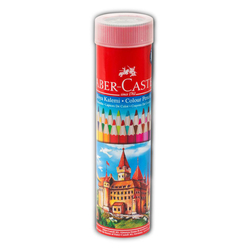 Faber Castell Kuru Boya Kalemi Metal Tüpte 24 Renk - Thumbnail