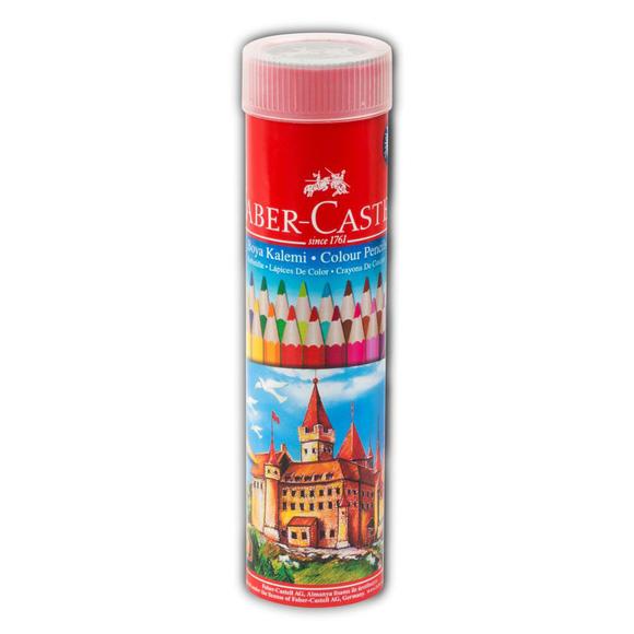 Faber Castell Kuru Boya Kalemi Metal Tüpte 24 Renk
