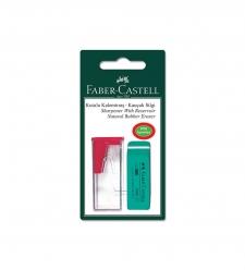 Faber-Castell Kutulu Kalemtıraş+Silgi Seti Blister - Thumbnail