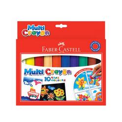 Faber Castell Multi Crayon Pastel 10 Renk - Thumbnail