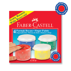 Faber Castell Parmak Boyası 45 ml 4 Renk - Thumbnail