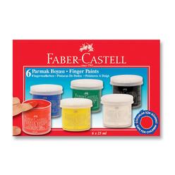 Faber Castell Parmak Boyası 6 Renk - Thumbnail