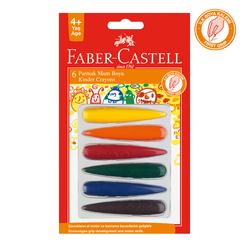 Faber Castell Parmak Mum Boya 6 Renk - Thumbnail