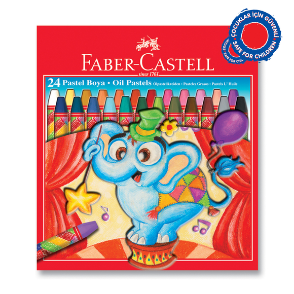 Faber Castell Pastel Boya Karton Kutu 24 Renk