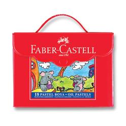 Faber Castell Pastel Boya Plastik Çantalı 18 Renk 125119 - Thumbnail